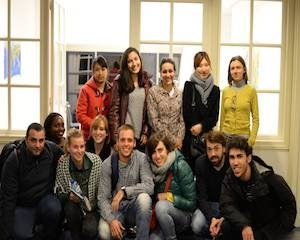 English conversation course students