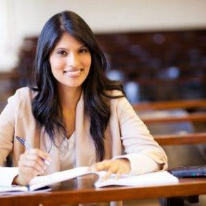 Private English lesson student