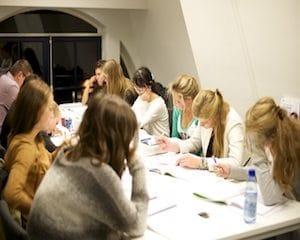 Engels cursus studenten